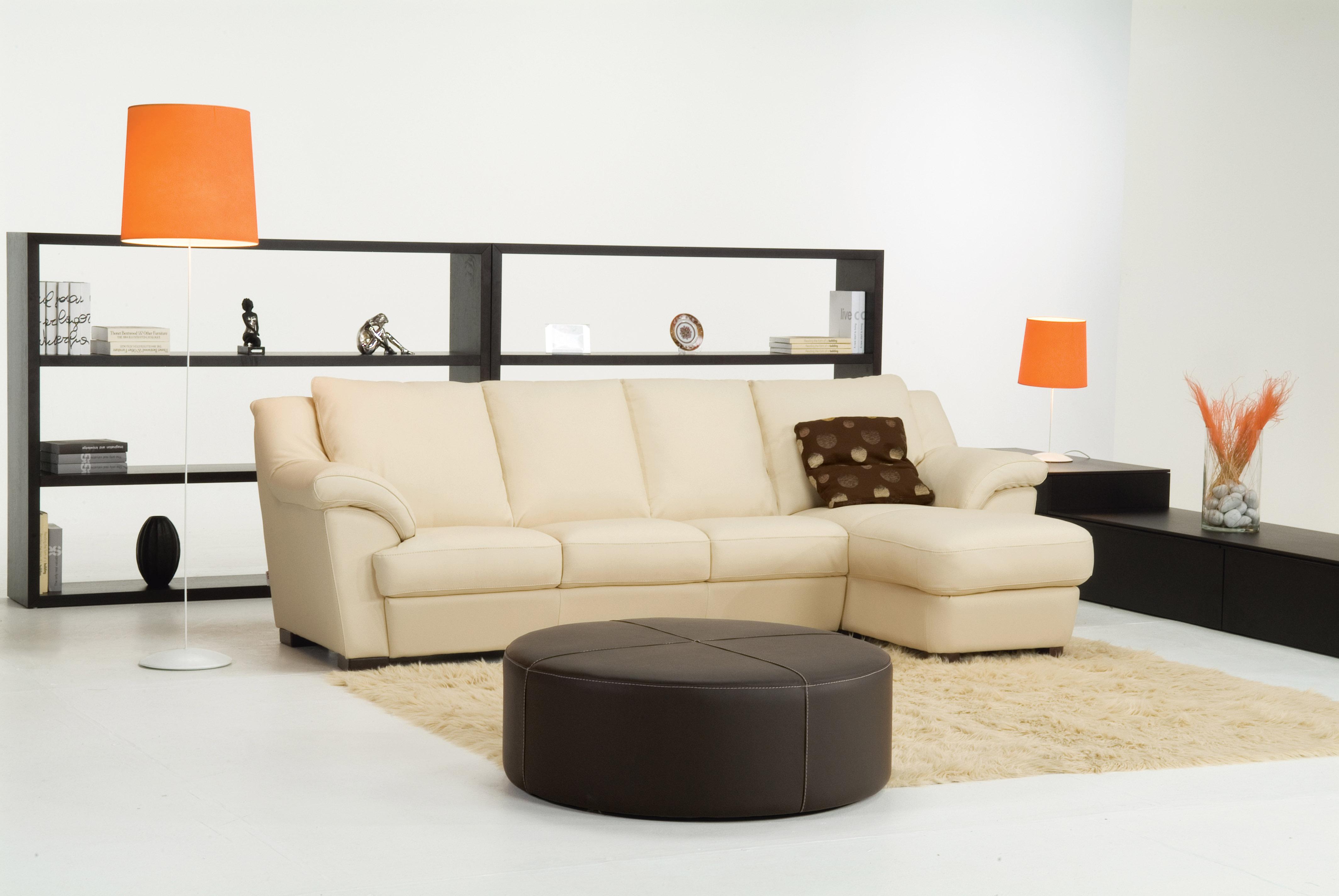 Enjoyable Elegant Genuine Leather Sectional Theyellowbook Wood Chair Design Ideas Theyellowbookinfo