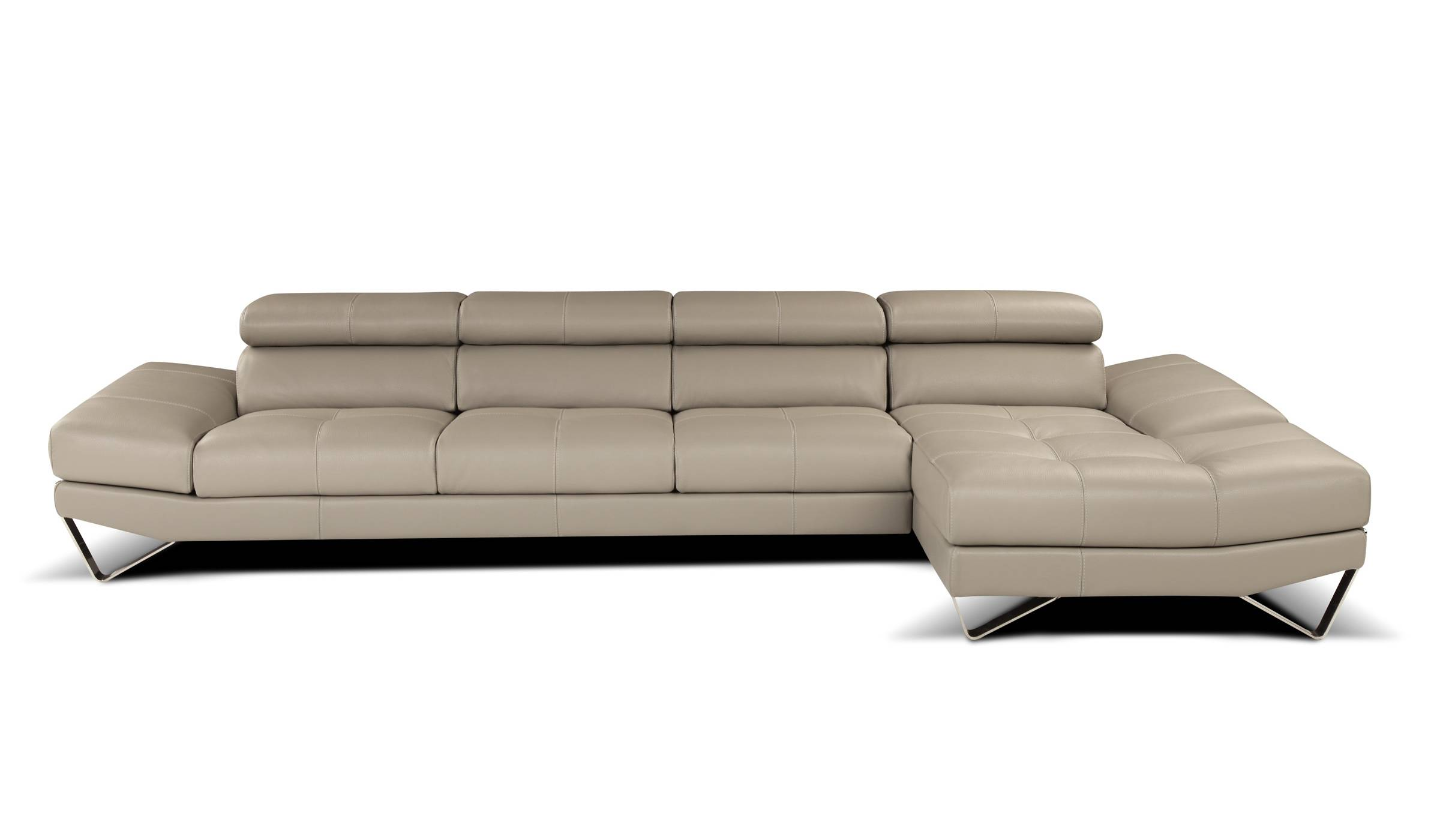 Sophisticated All Italian Leather Sectional Sofa