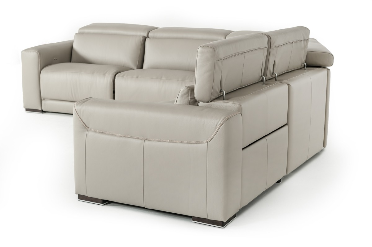 Sophisticated Italian Top Grain Leather Sectional Sofa