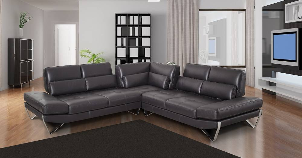 Contemporary Style Designer All Leather Sectional Irving Texas ...