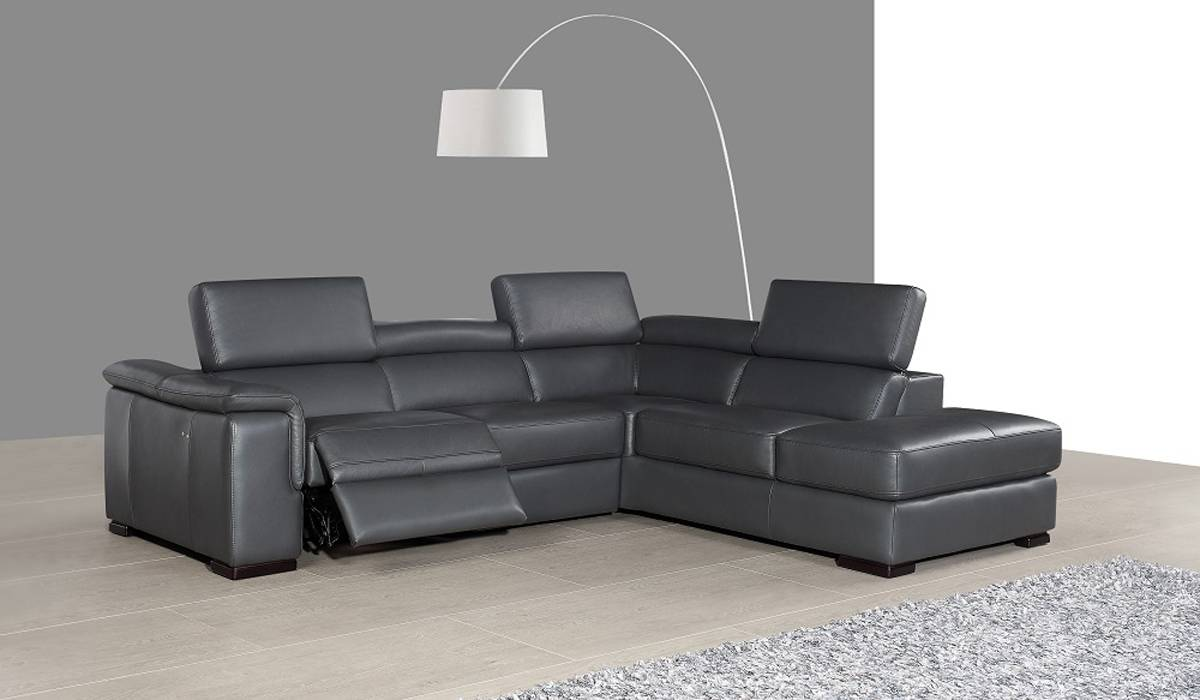 Genuine And Italian Leather Corner Sectional Sofas Unique L Shape Sofa