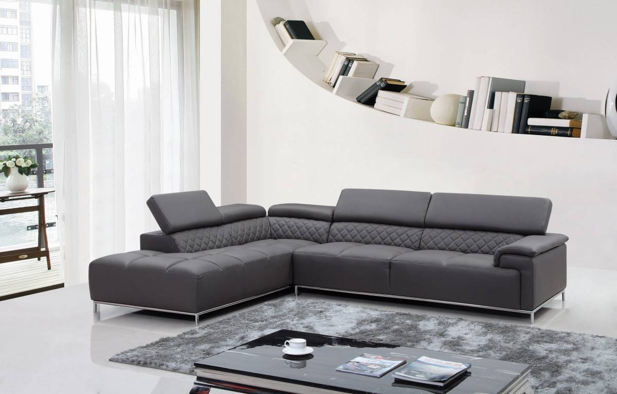 Elegant Full Italian Leather Sectionals New Haven Connecticut V-8482
