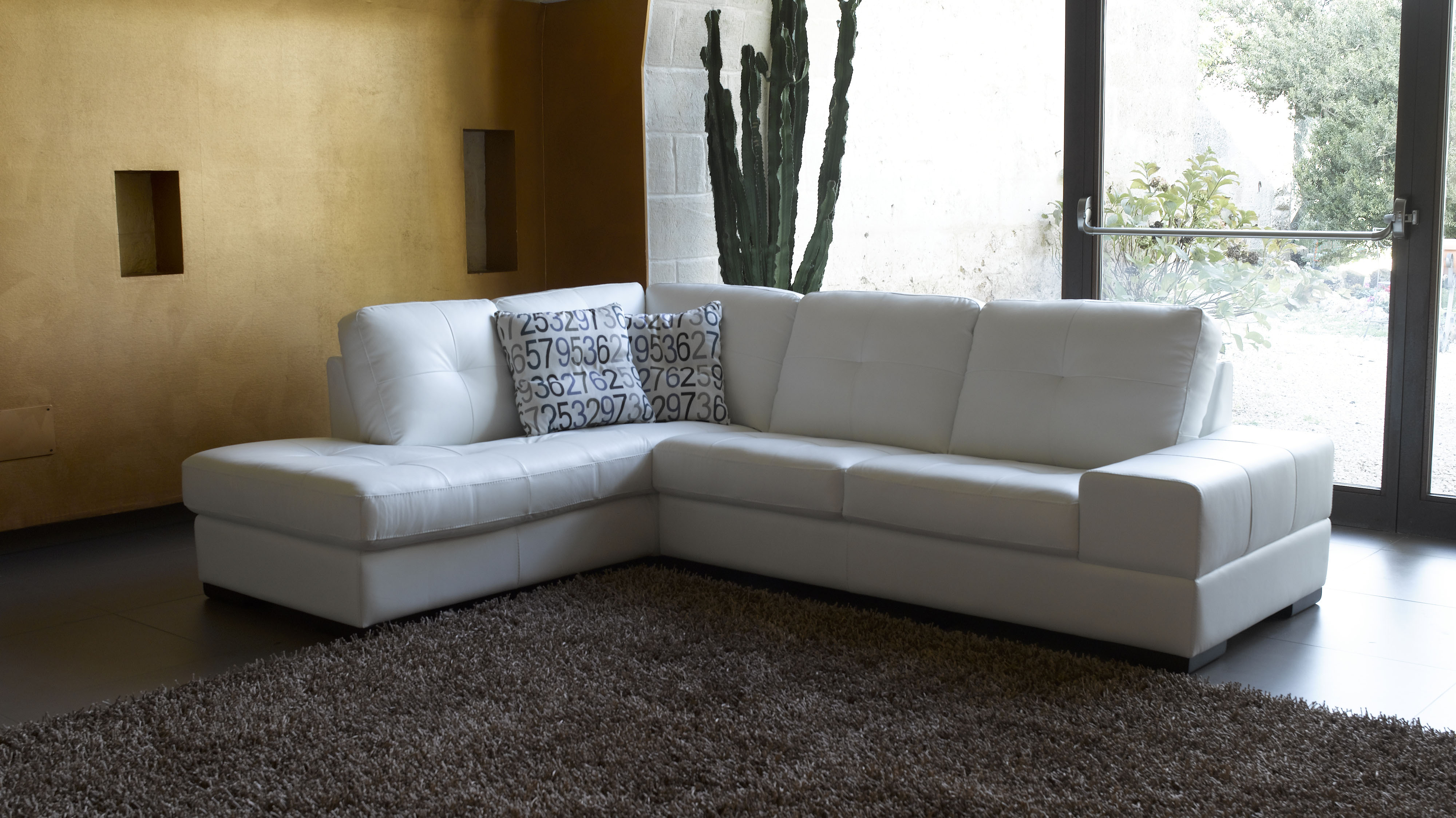 Overnice Genuine Leather Sectional Tucson Arizona Antonio
