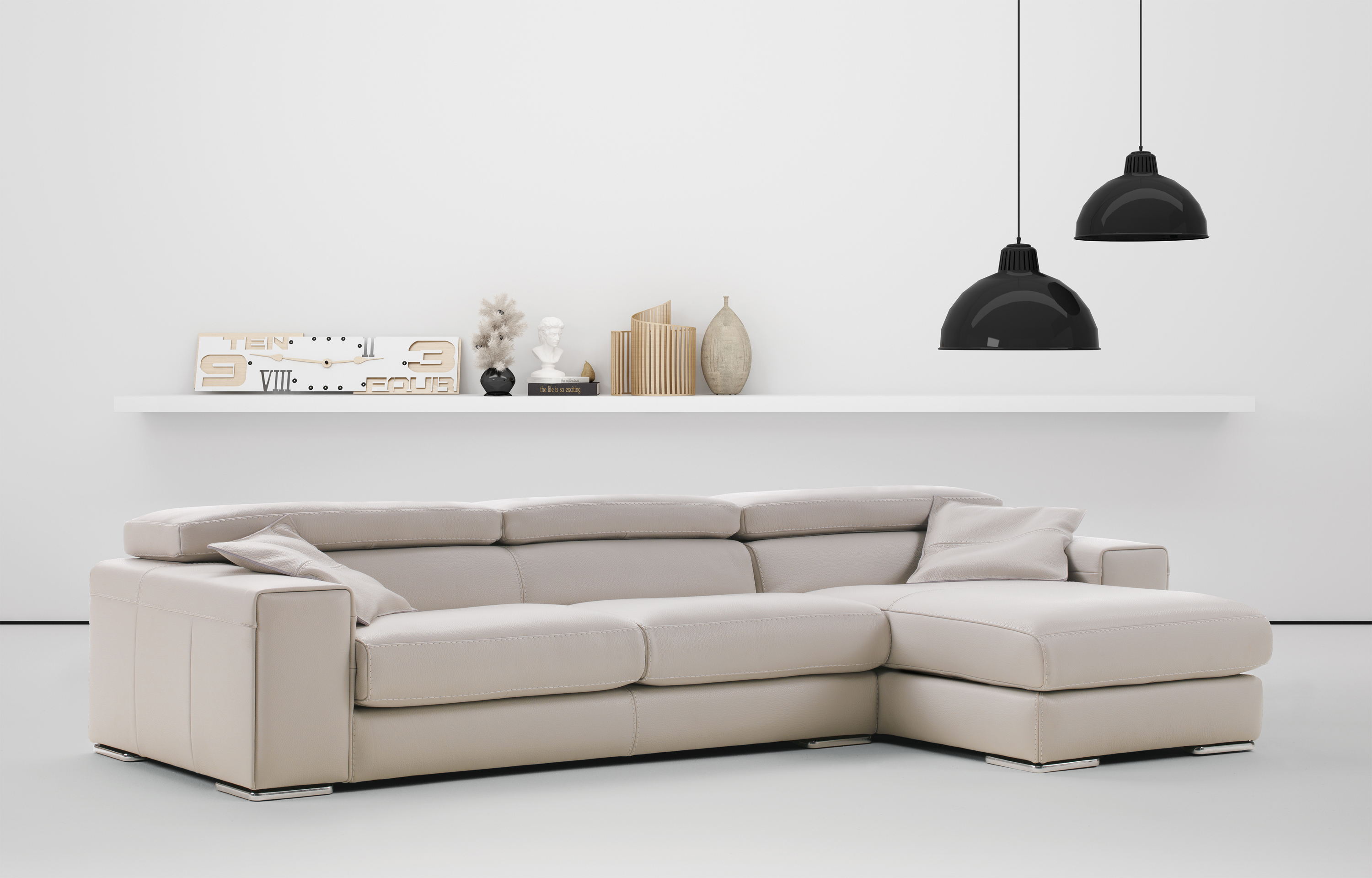 Advanced Adjustable Leather Corner Sectional Sofa With