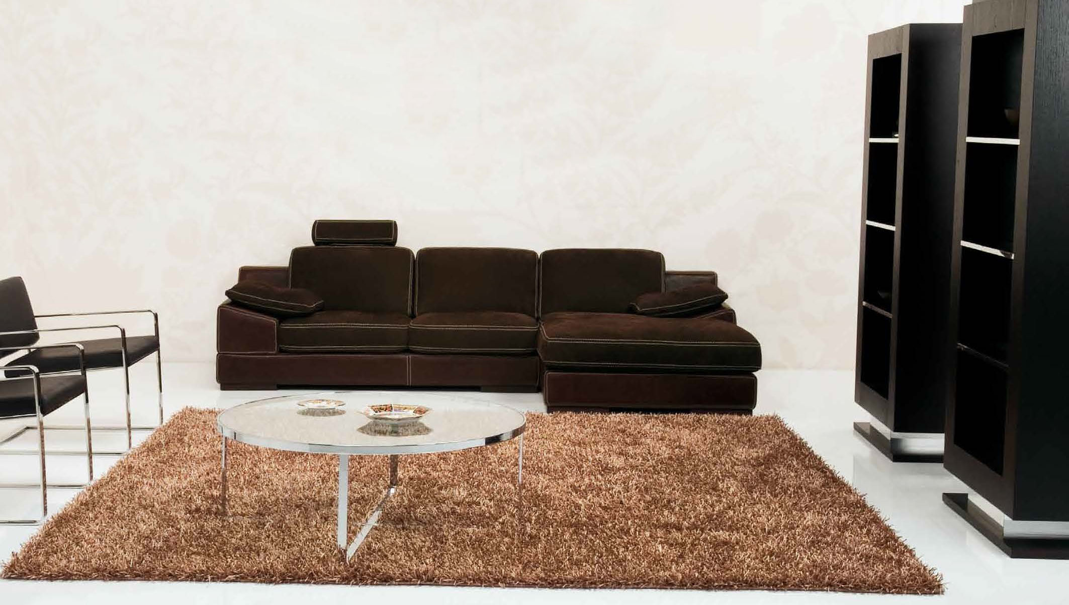 Refined All Italian Leather Sectional Sofa Syracuse New York
