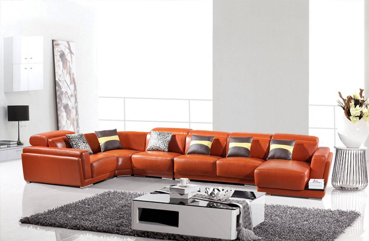Luxurious leather curved corner sofa new orleans louisiana for Divani curvi design