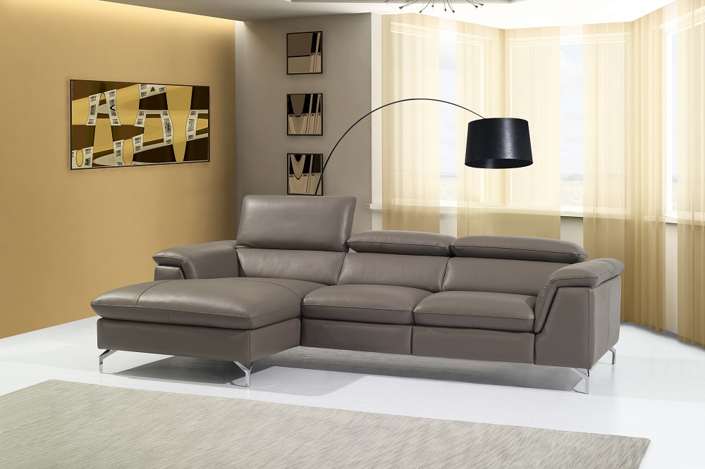 High End Curved Sectional Sofa In Leather Hialeah Florida