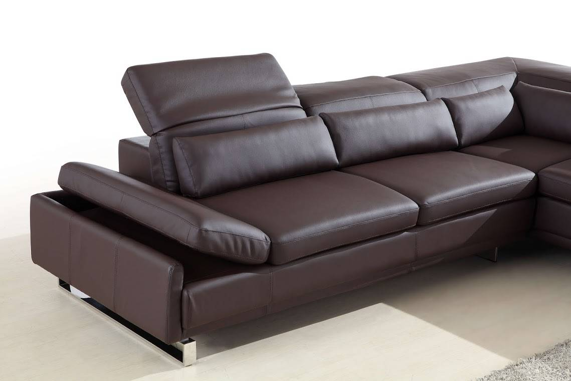 Long Bonded Leather Sectional Sofa In Brown Or White San Jose California Bhclif