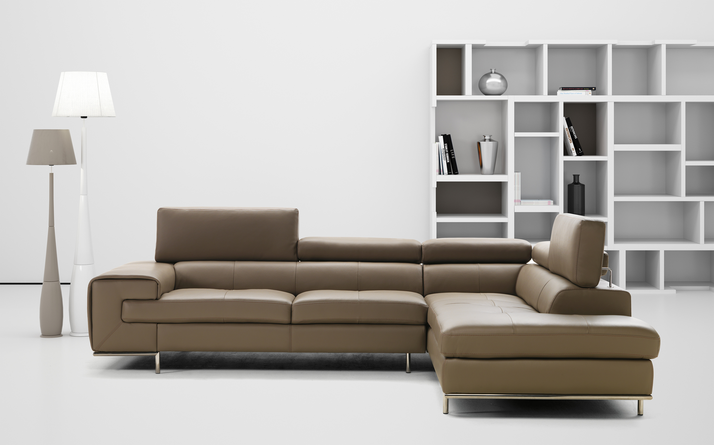 leather polaris in black italian sectional white contemporary sofa