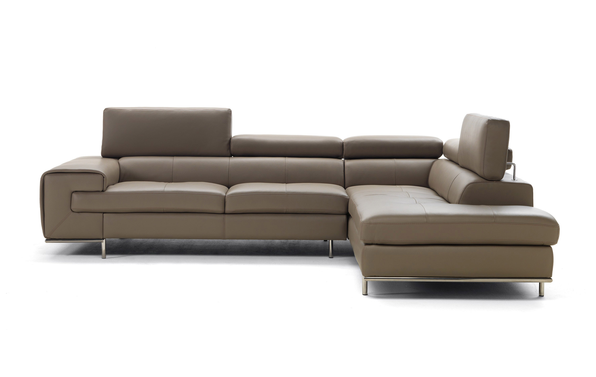 Real leather tufted sectional sofa memphis tennessee for Design made in italy