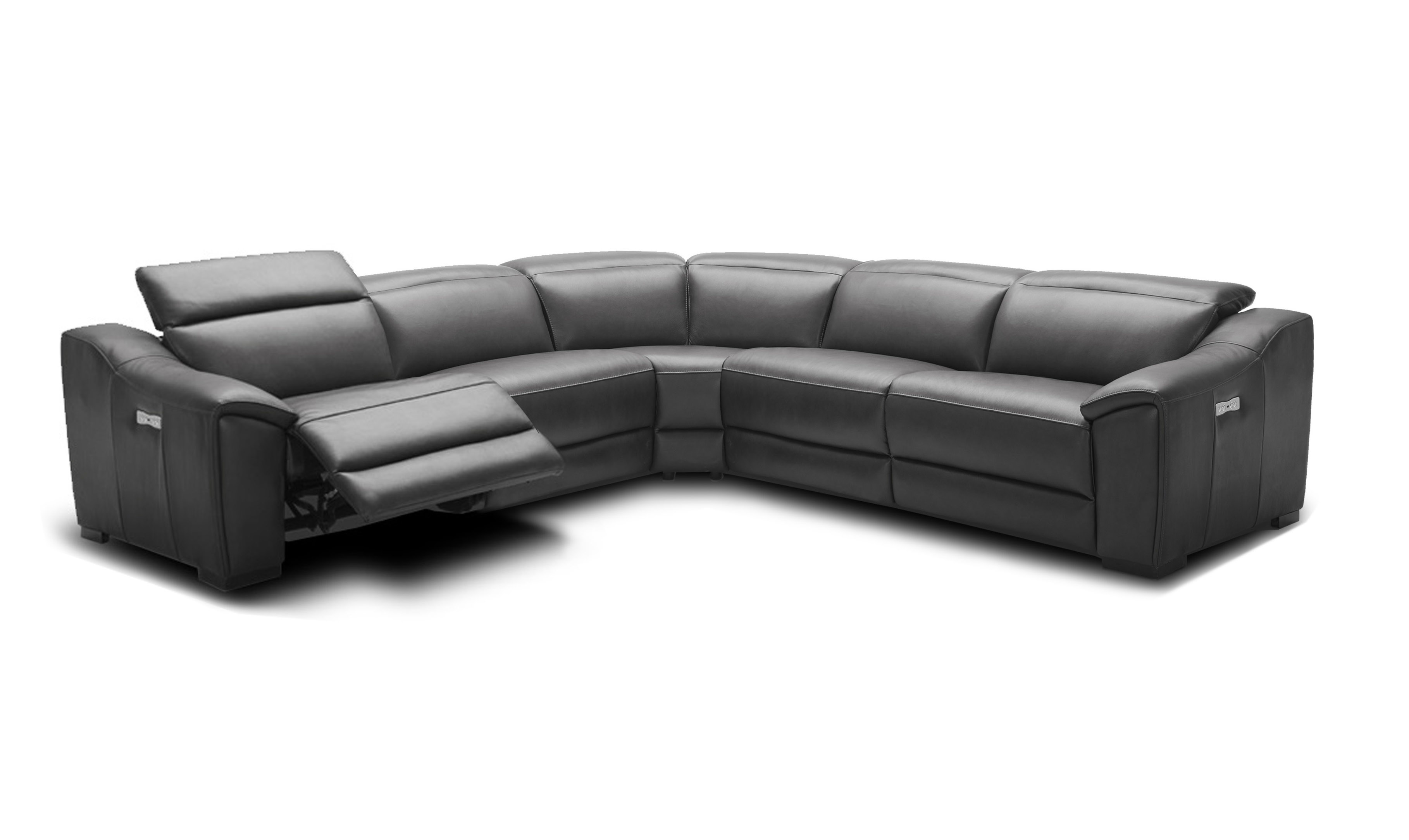 Advanced Adjustable Curved Sectional Sofa in Leather