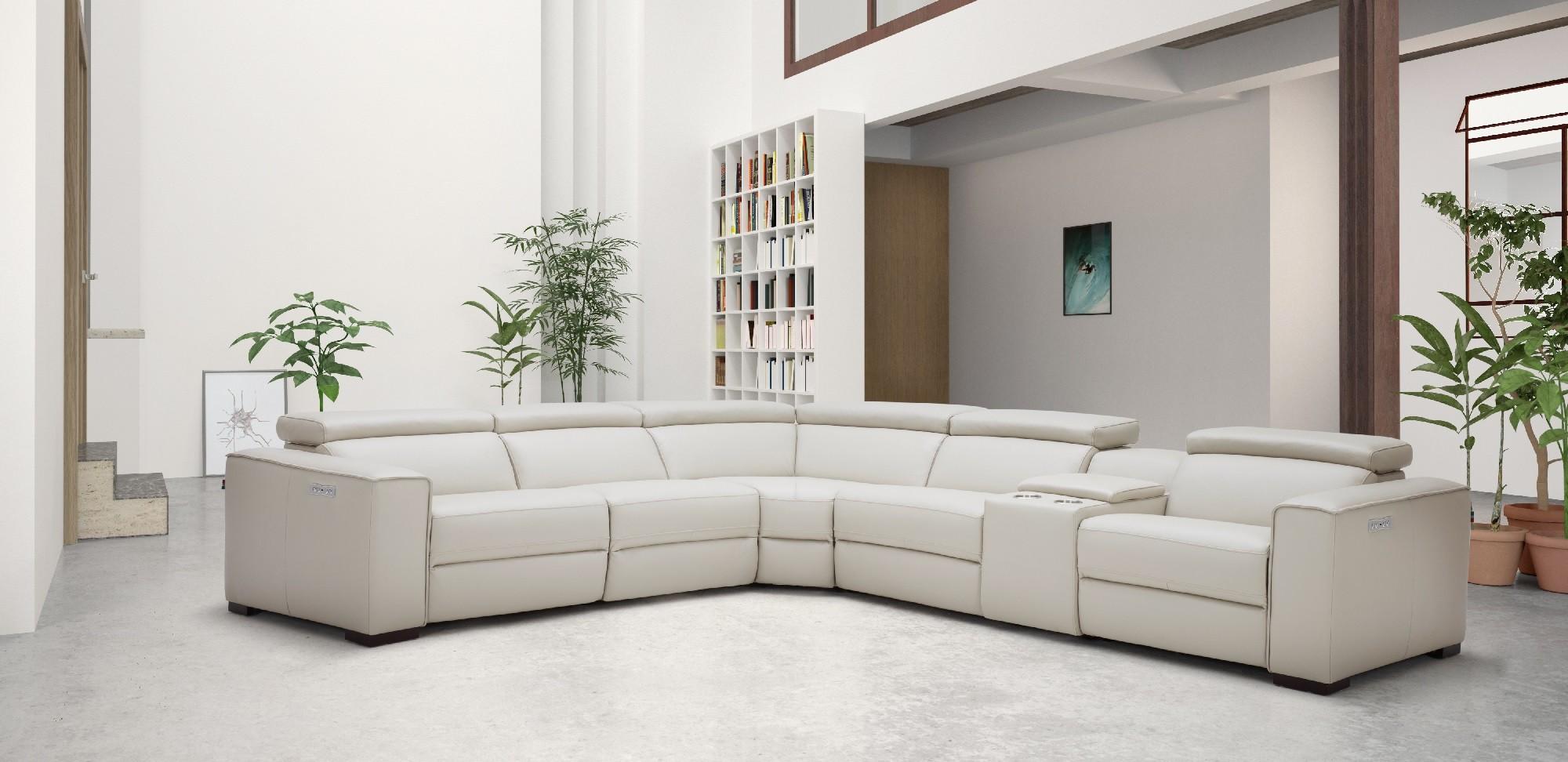 Unique Leather Upholstery Corner L Shape Sofa