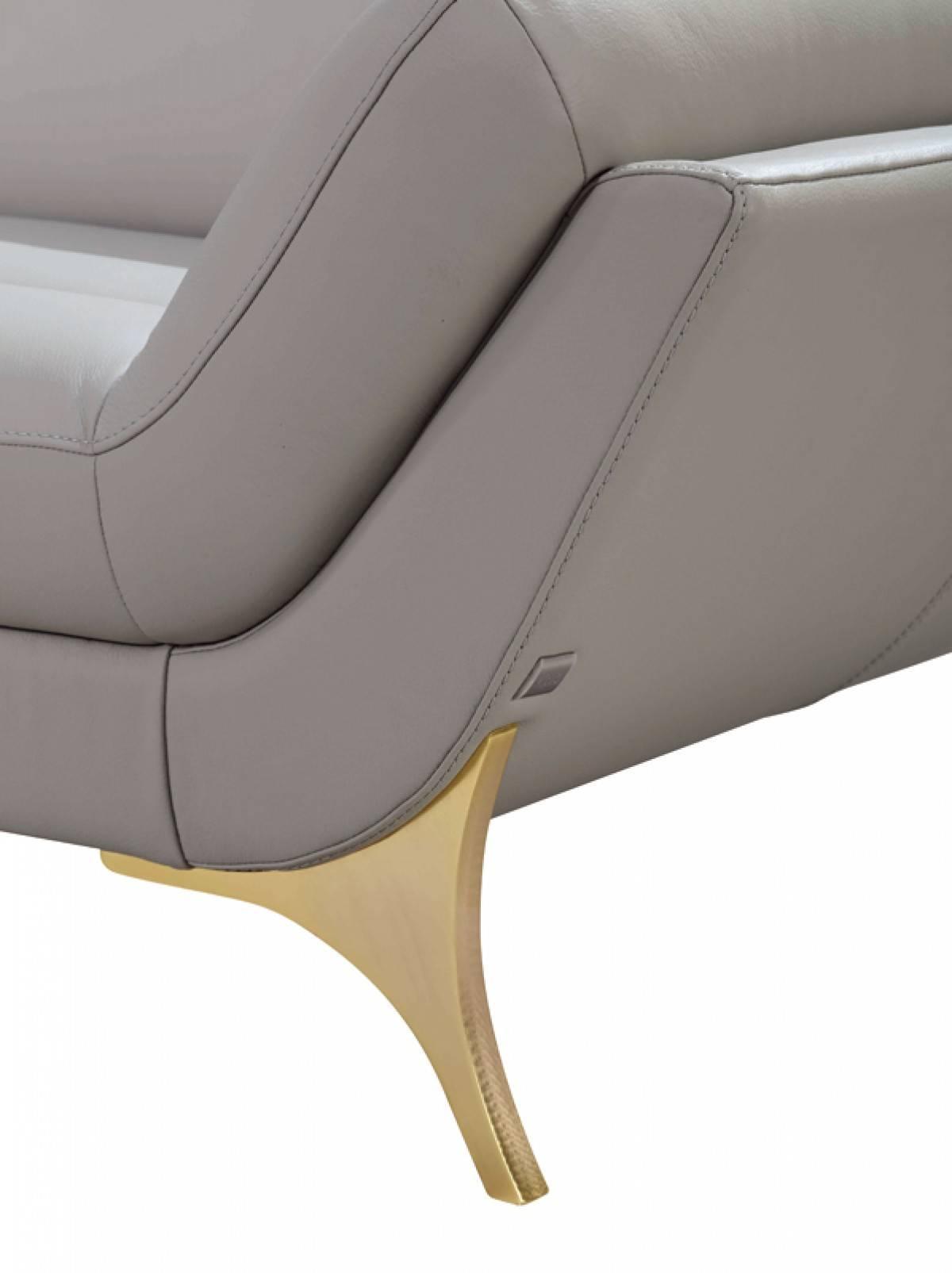 Luxury Italian Top Grain Leather Sectional Sofa Dallas Texas VIG