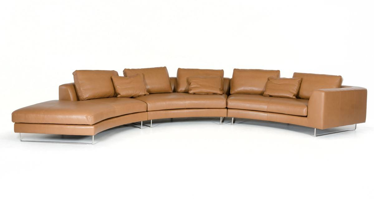 Sophisticated Italian Full Grain Leather Sectional Sofa