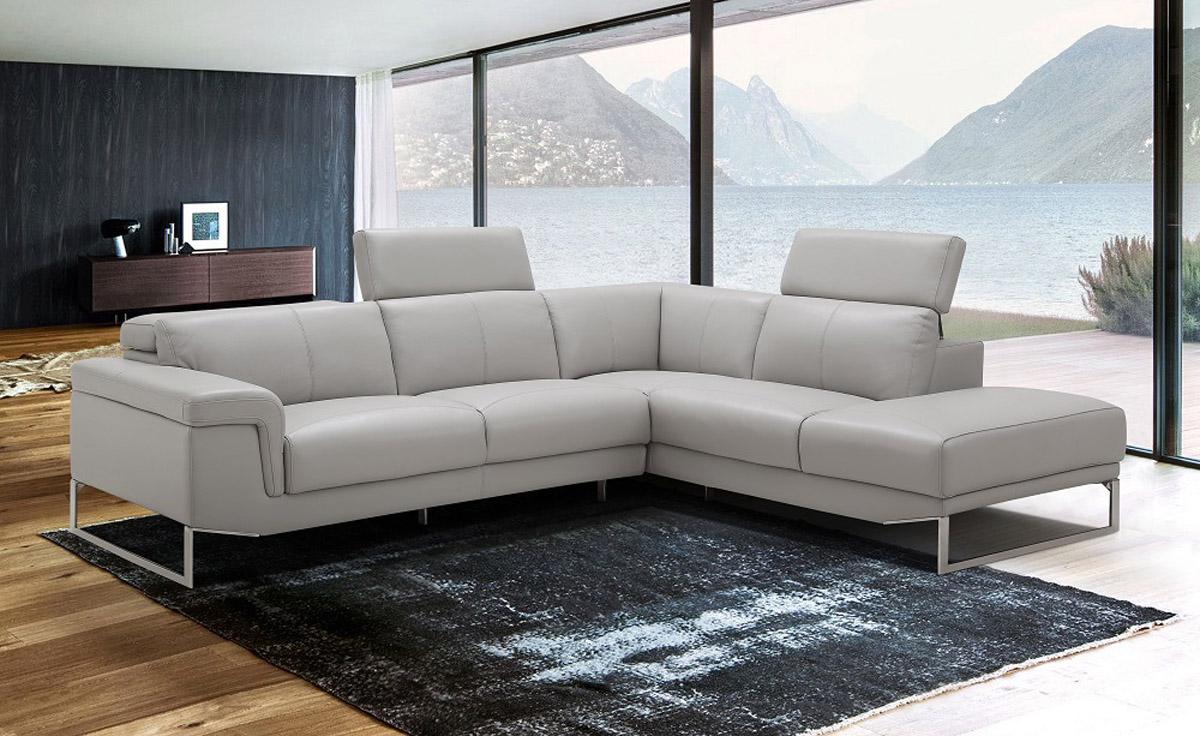 Adjustable Advanced Leather Curved Corner Sofa