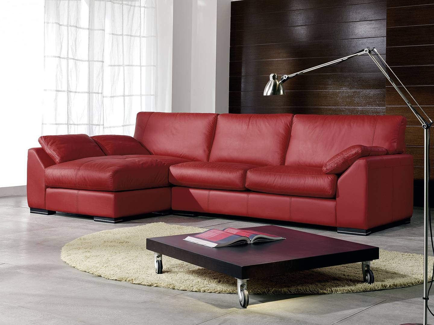 Luxury Genuine Leather Sectional San Diego California Natuzzi  # Muebles Leaders Tarragona