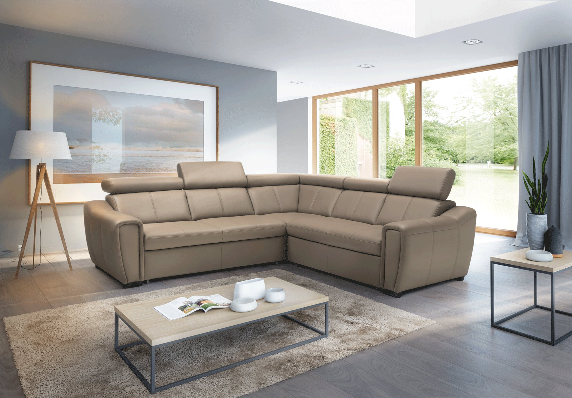 Marvelous Luxury Covered In All Leather Sectional Dailytribune Chair Design For Home Dailytribuneorg