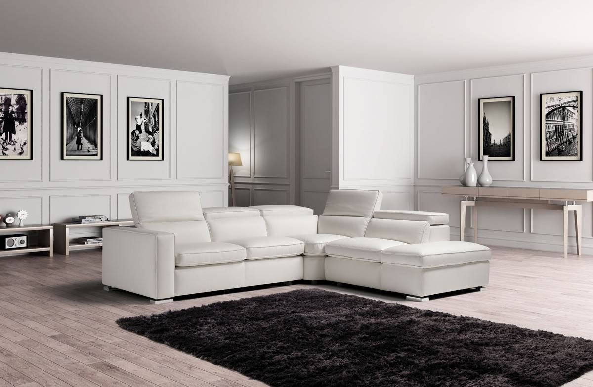 High End 100% Italian Leather Sectional - Click Image to Close