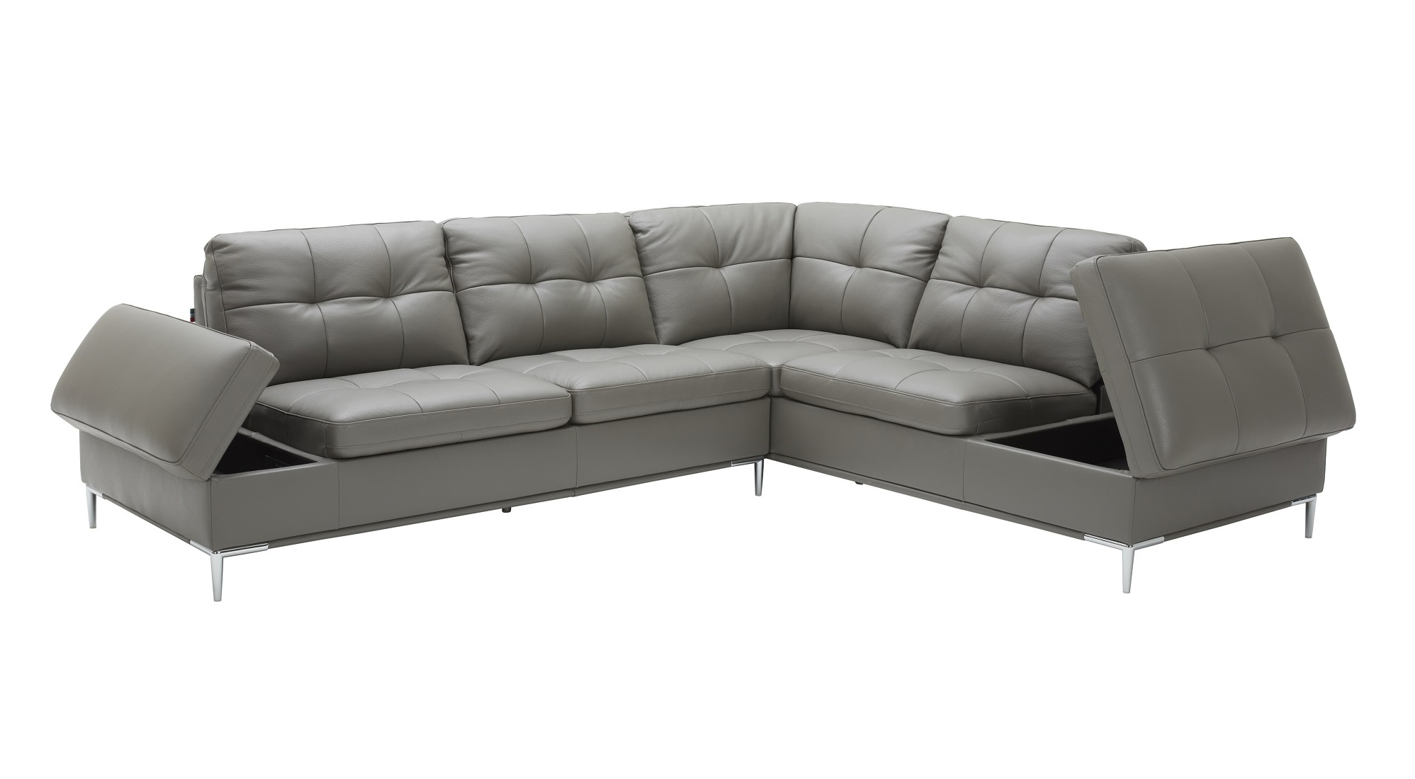 Phenomenal Sophisticated Leather Sectional With Chaise With Pillows Pabps2019 Chair Design Images Pabps2019Com