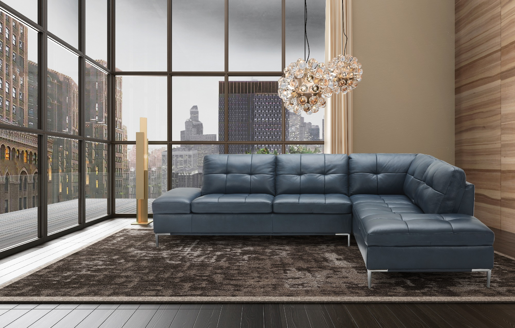 Outstanding Advanced Adjustable Tufted Leather Corner Sectional Sofa With Pillows Ibusinesslaw Wood Chair Design Ideas Ibusinesslaworg