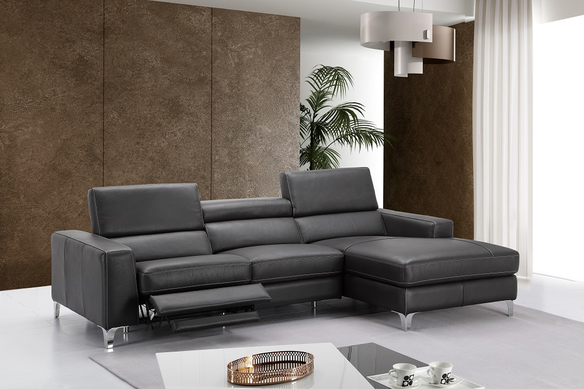 High Class All Italian Leather Sectional Sofa Anchorage