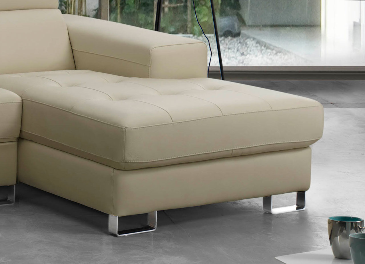 Advanced adjustable furniture italian leather upholstery for Genuine italian leather sectional sofa