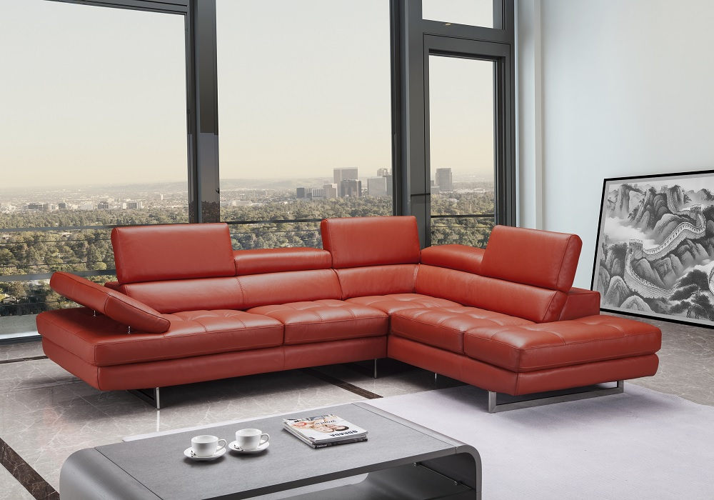 Contemporary style tufted corner sectional l shape sofa for Khloe tufted sectional sofa