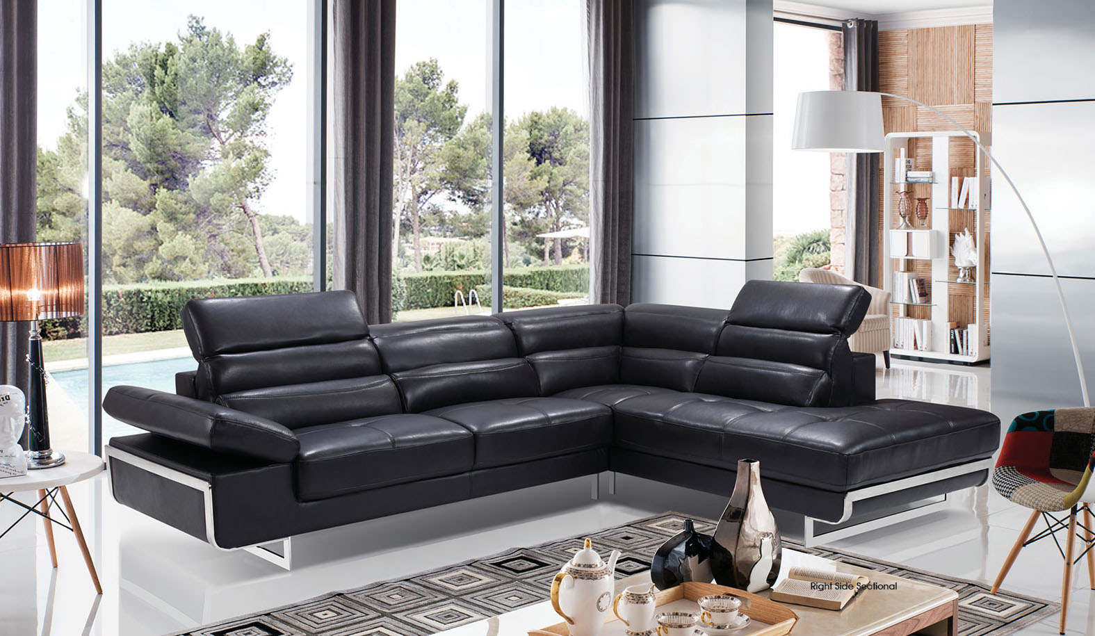 High-class Italian Leather Living Room Furniture Jacksonville ...