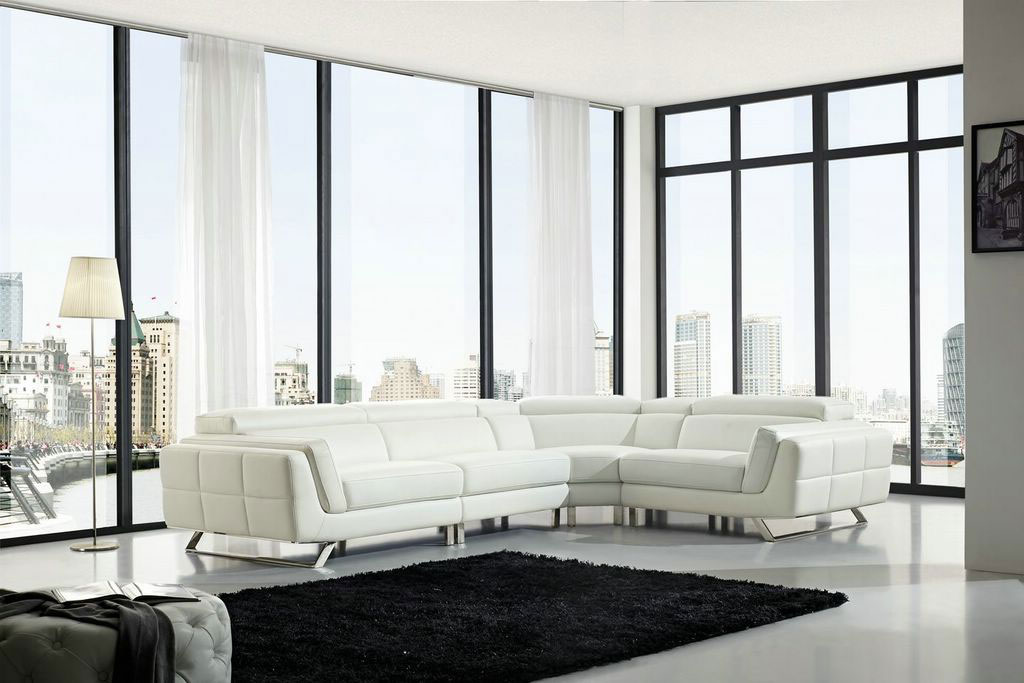 high end full italian leather sectionals glendale california esf l582. Black Bedroom Furniture Sets. Home Design Ideas