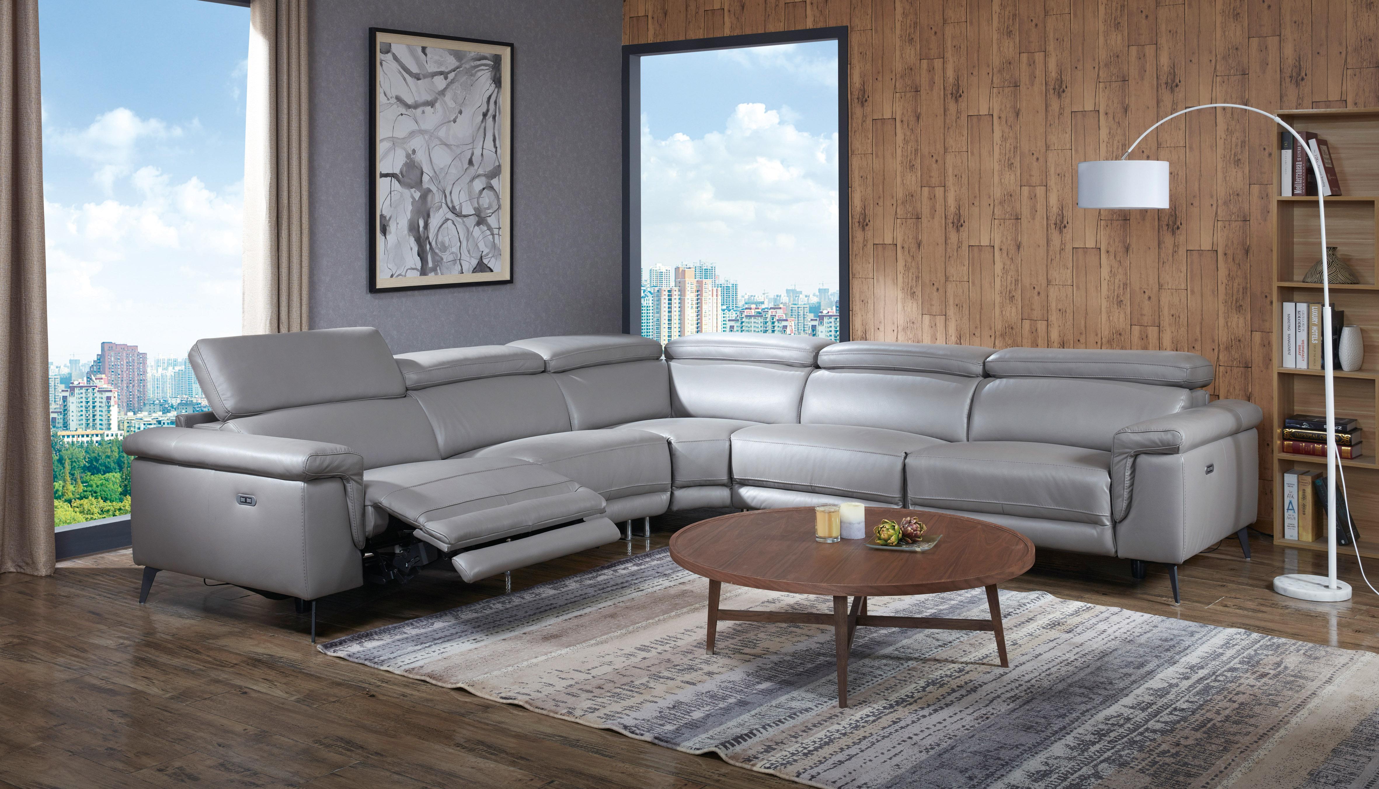 Extravagant 1 2 Italian Leather L Shape Furniture Boston  ~ Leather L Sectional Sofa