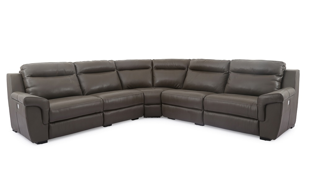 Unique Leather Corner Sectional Sofa With Soft Cushions