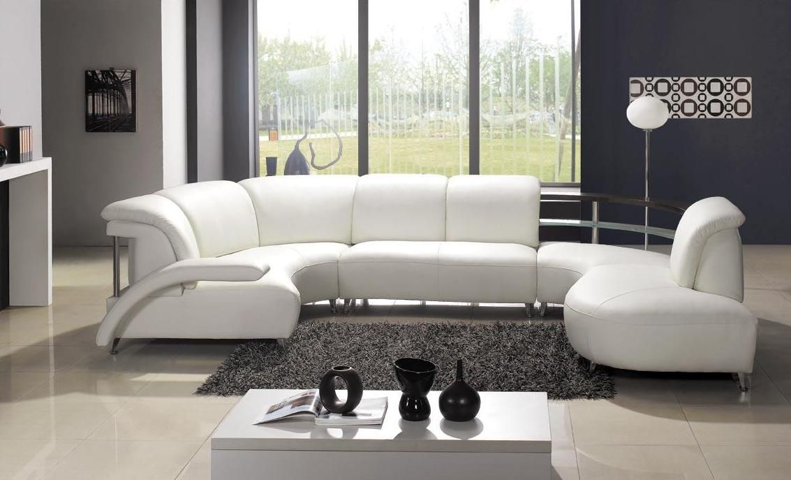 High end modern bonded italian design sectional seattle for Muebles de sala en l modernos