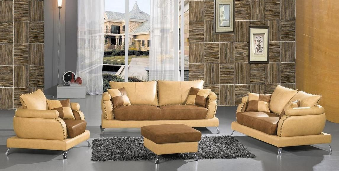 Genuine And Italian Leather Modern Designer Sofas
