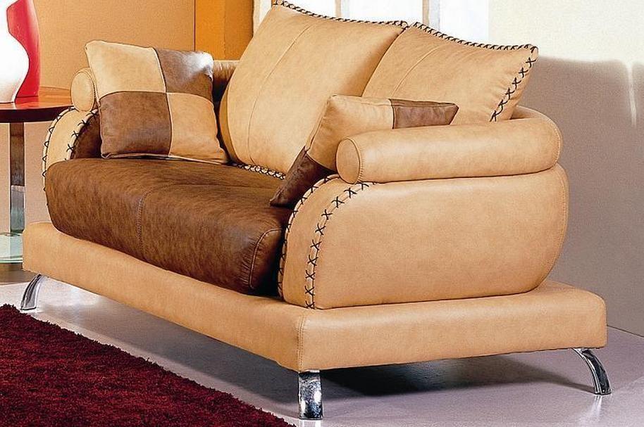 Camel Two Toned Leather Sofa Set Milwaukee Wisconsin V2222
