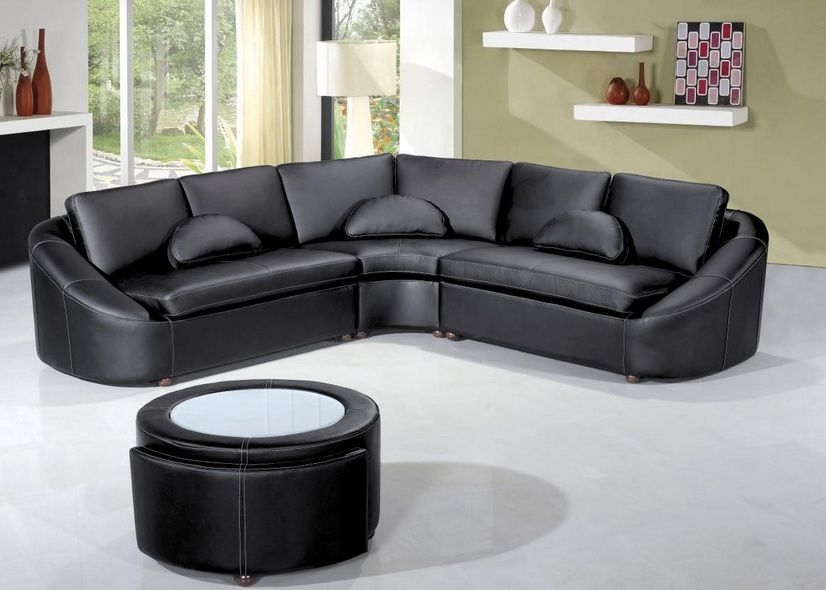 Contemporary designer bonded sectional lincoln nebraska v2224b Modern sofas to go with any type of decor