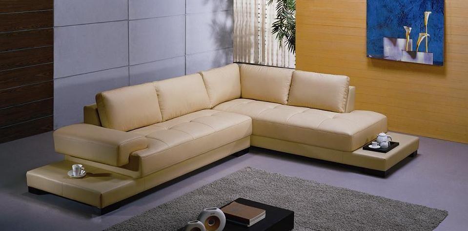 Elite Italian Top Grain Leather Sectional Sofa Chula Vista