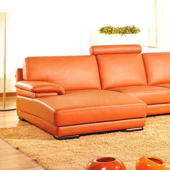 Adjustable Advanced Half Sectional Upholstered in Real Leather - Click Image to Close