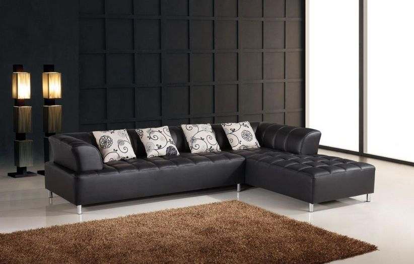 custom order - Modern Leather Sectional