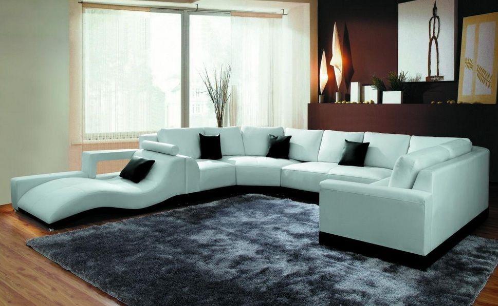 Fashionable Discounted Leather Sectional Couch Tucson Arizona VIG2264B