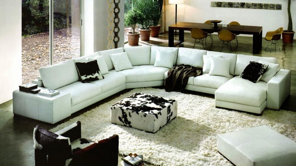 High Class Quality Bonded Leather L Shape Sectional Miami