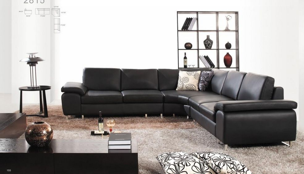 Contemporary Style Bonded Leather Living Room Furniture
