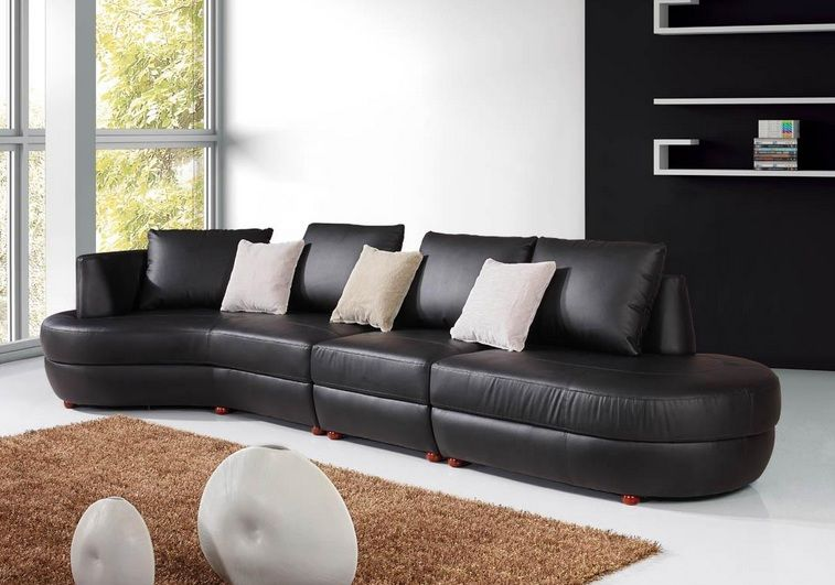Extravagant bonded leather chaise sectional newark new for Bonded leather sectional sofa with chaise