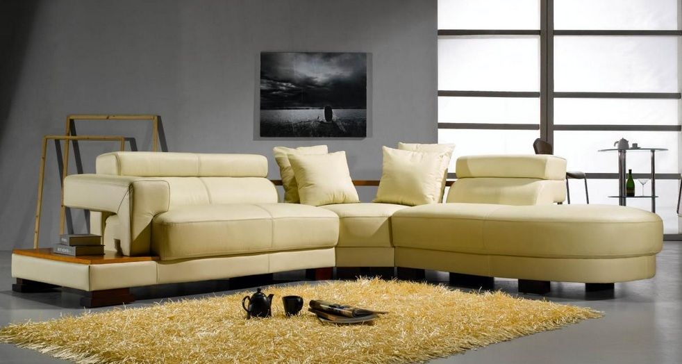 Contemporary style quality bonded leather l shape sectional anchorage alaska v3331 Modern sofas to go with any type of decor