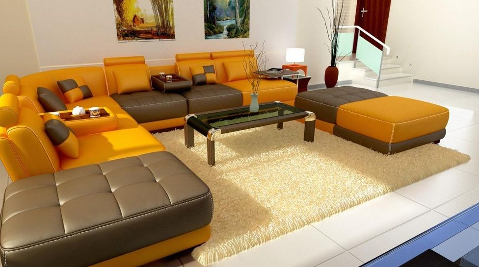 High end sectional sofas high end bonded leather for Sectional sofas new orleans
