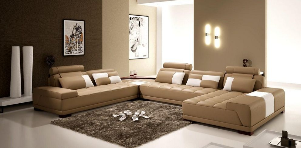 Contemporary Quality Bonded Leather L Shape Sectional