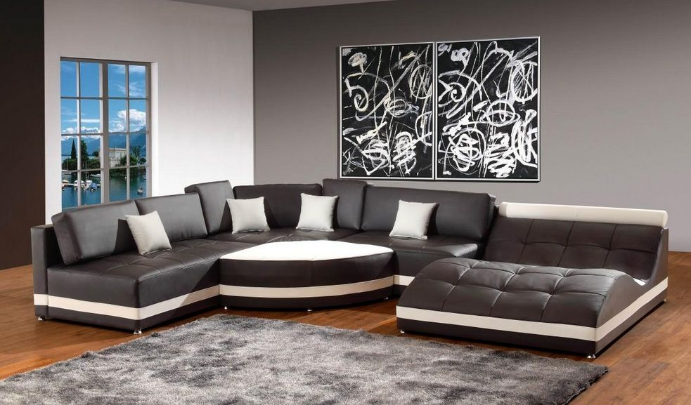 high end bonded leather chaise sectional sacramento california v5012b. Black Bedroom Furniture Sets. Home Design Ideas