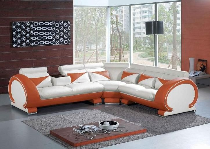 Adjustable Advanced Quality Leather L Shape Sectional
