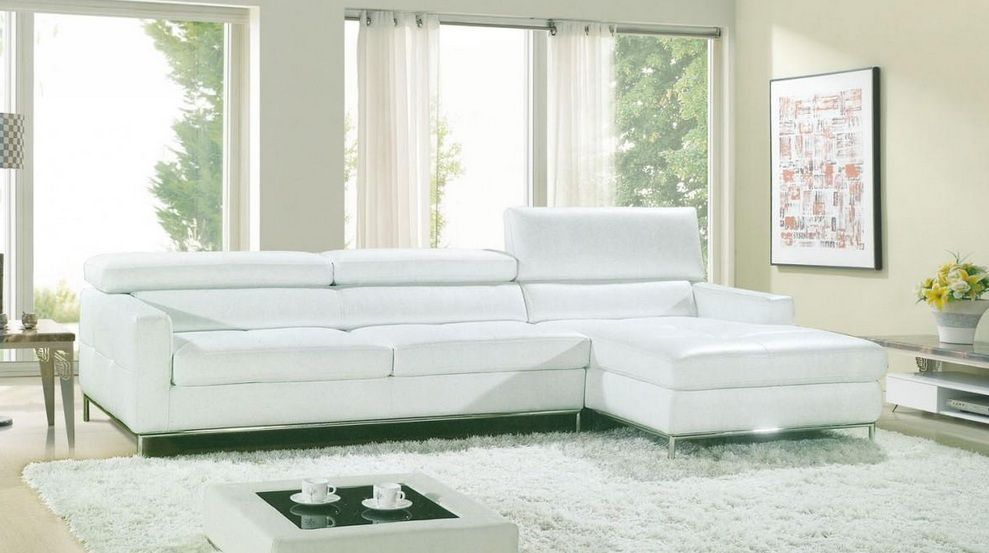 Contemporary style leather corner sectional sofa chesapeake virginia v8003 Modern sofas to go with any type of decor