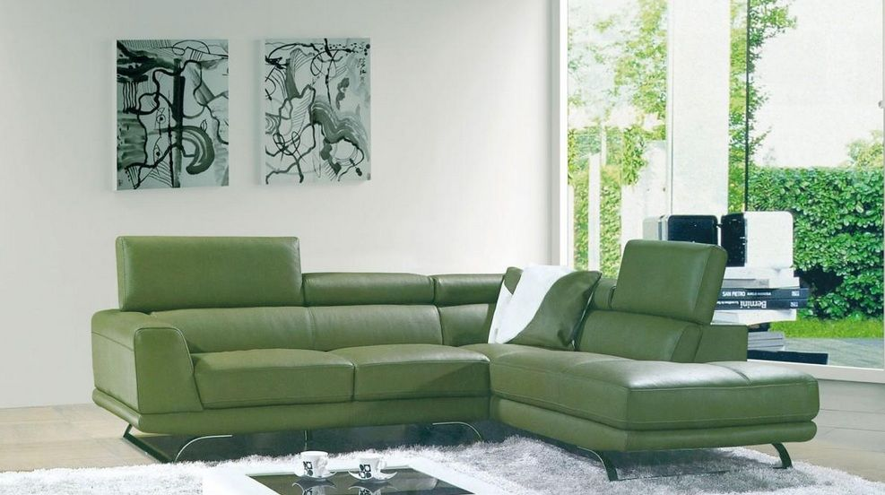 Henderson Sectional Sofa: Luxurious Bonded Leather Sectional Sofa Henderson Nevada V8012