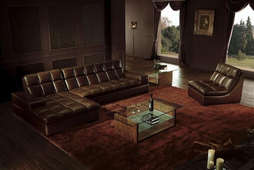 Exotic Tufted Modern Genuine Italian Sectional With